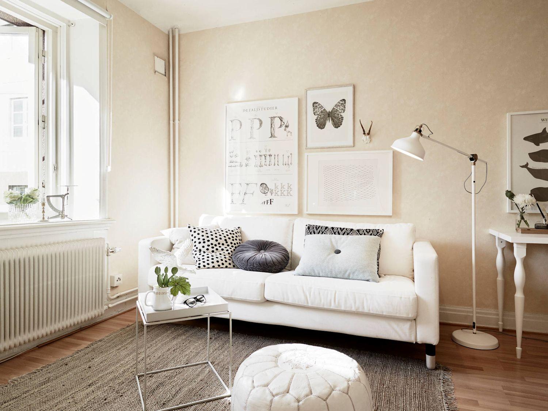 Monoambiente con decoraci n n rdica vintage for Diseno de interiores espacios reducidos