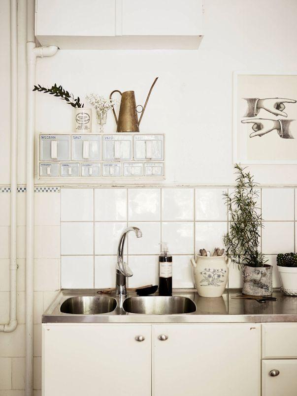 Monoambiente con decoración nórdica vintage 9