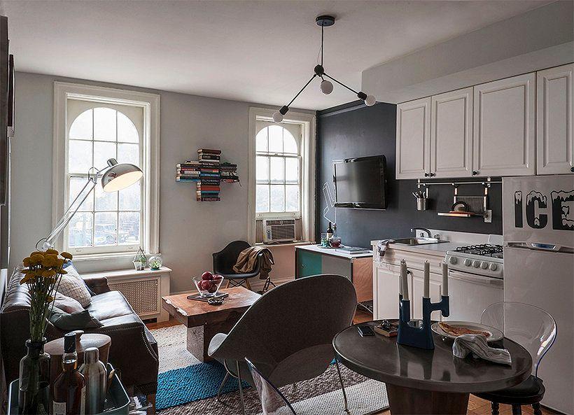 Decoraci n de un departamento peque o de 2 ambientes for Como disenar una cocina en un espacio pequeno