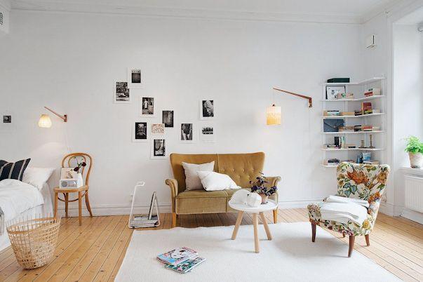 Decorando un monoambiente con muebles vintage 1
