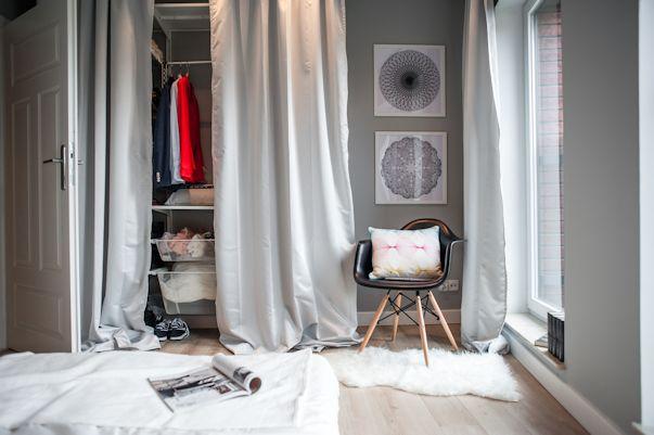 Placard con cortinas