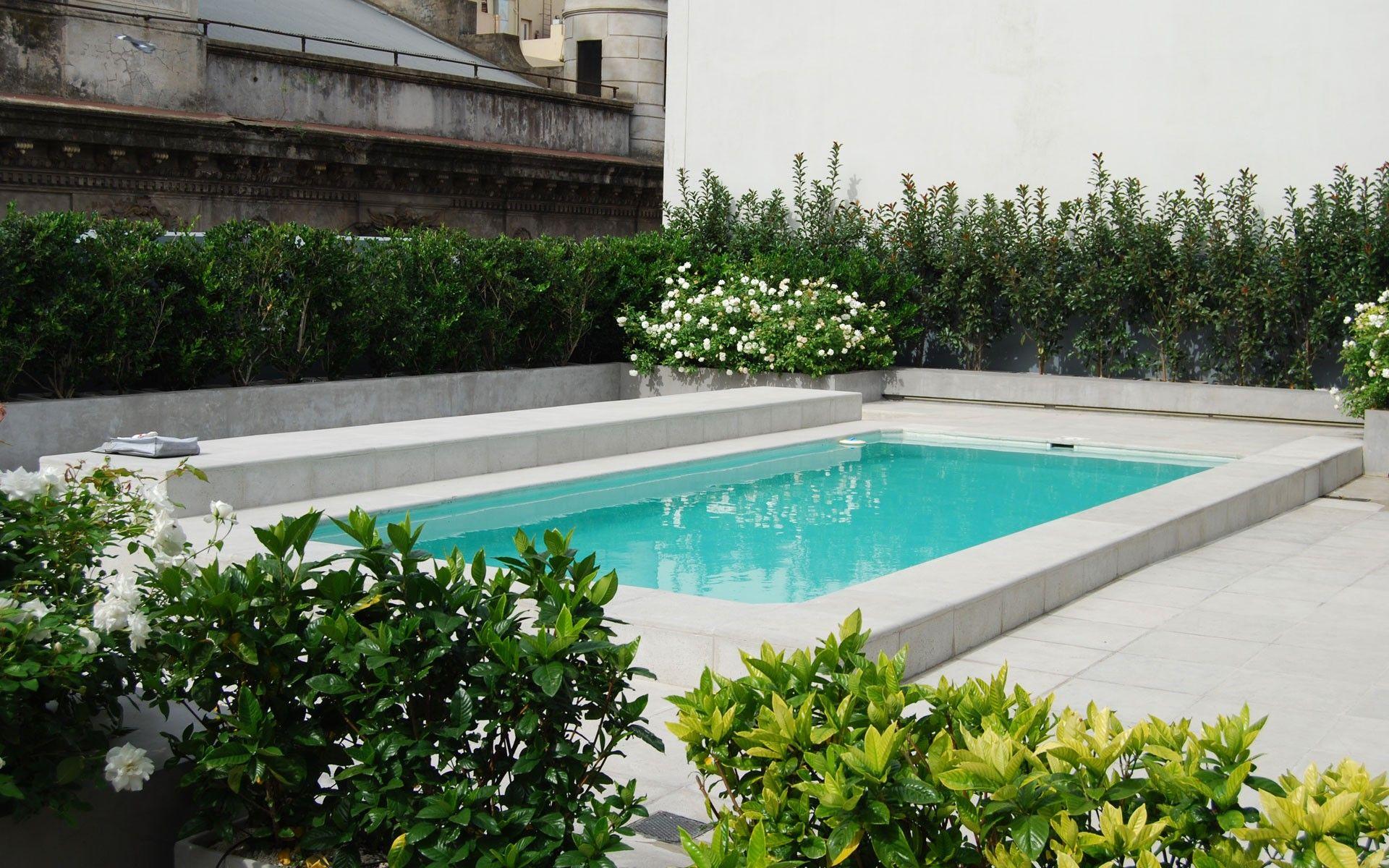 terraza moderna con pileta en san telmo