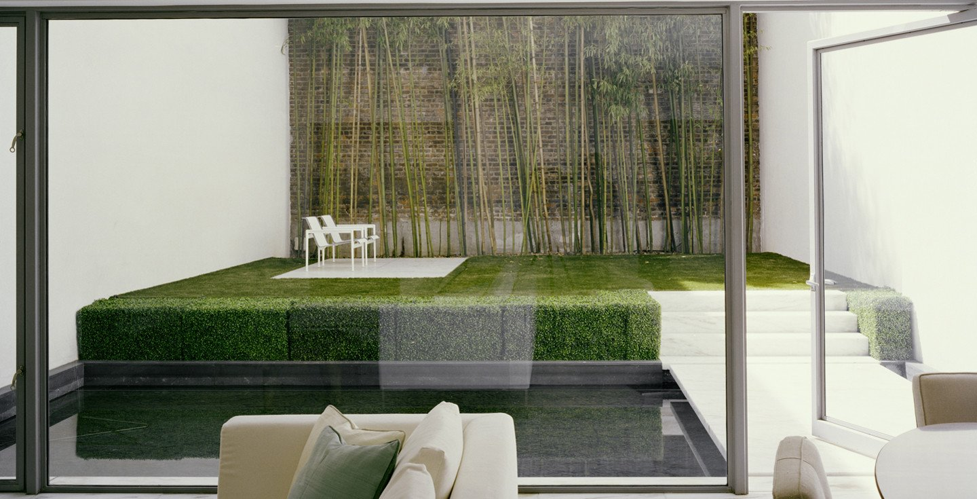 Jard n minimalista en la ciudad for Decoracion interior de casas minimalistas