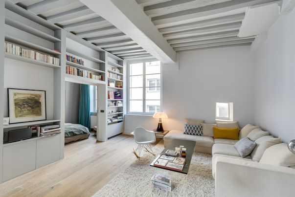 Diseño de interiores contemporáneo en un departamento de 50 metros 2