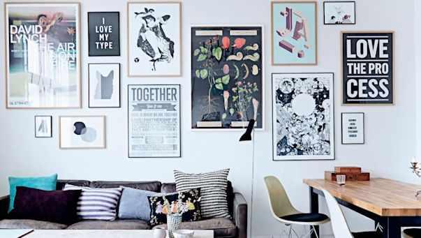 Arte y cuadros en la decoración de un depto de 3 ambientes 1