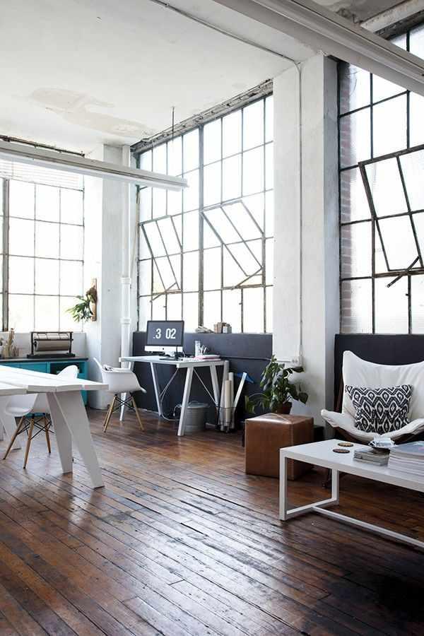 Lofts estilo industrial: estudio de una diseñadora gráfica 1