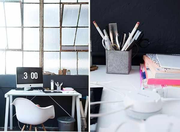 Lofts estilo industrial: estudio de una diseñadora gráfica 3