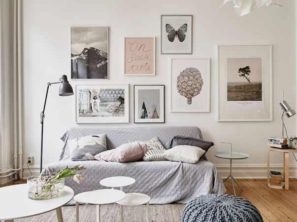 Interiores de un monoambiente nórdico con mucho estilo 1
