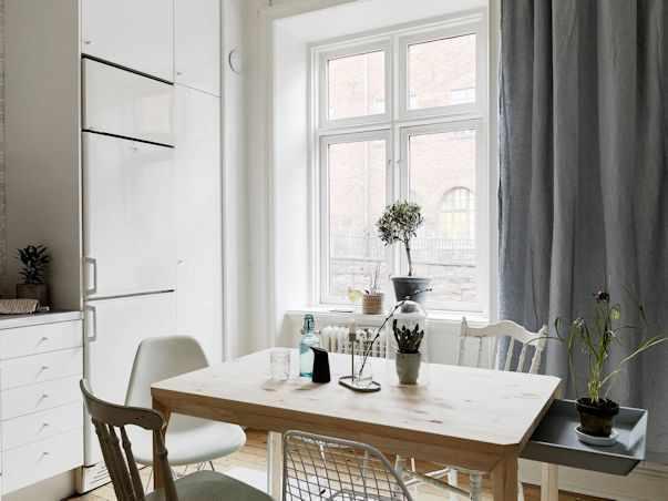 Interiores de un monoambiente nórdico con mucho estilo 9