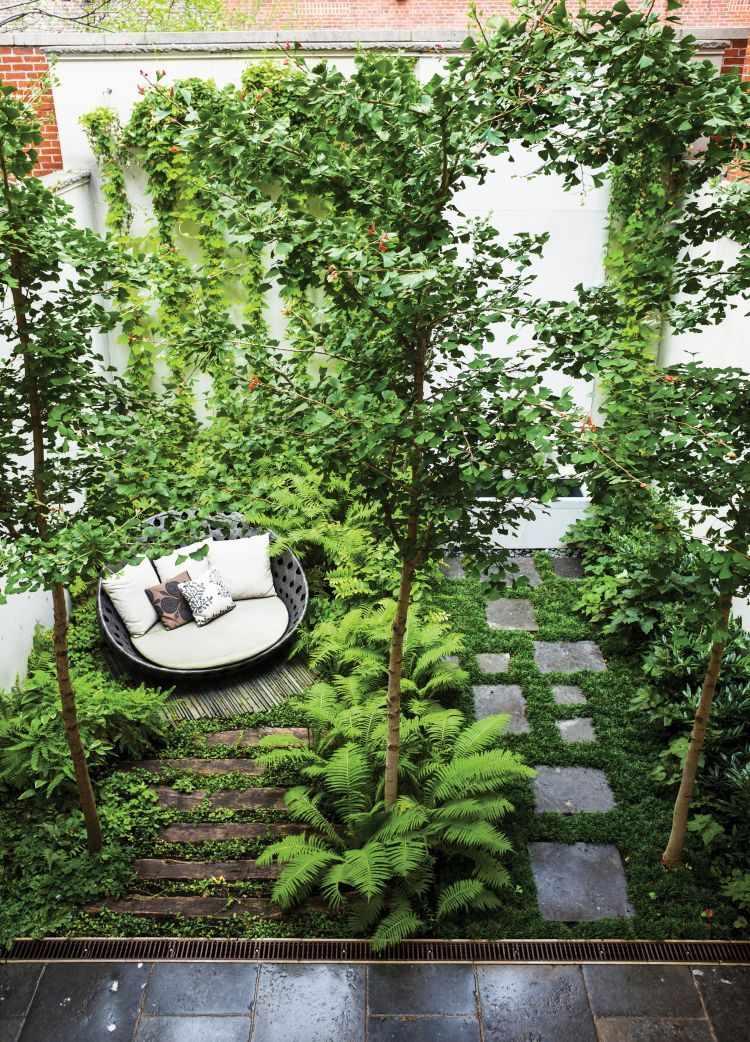 Jardines peque os y modernos un bosque en pocos metros for Jardines en espacios pequenos fotos