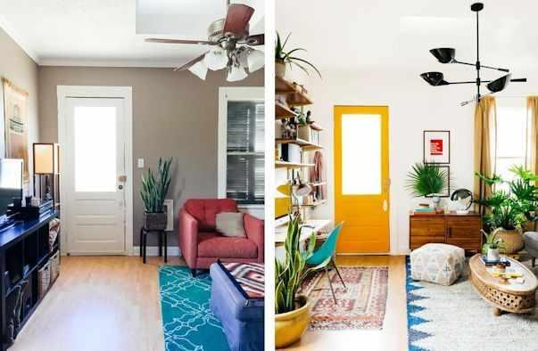 Decoración antes y después living pequeño 2