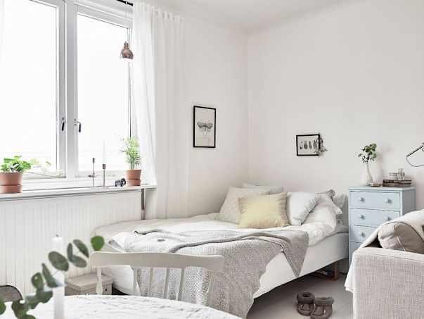 Decoración: Monoambiente escandinavo con interiores en blanco 2
