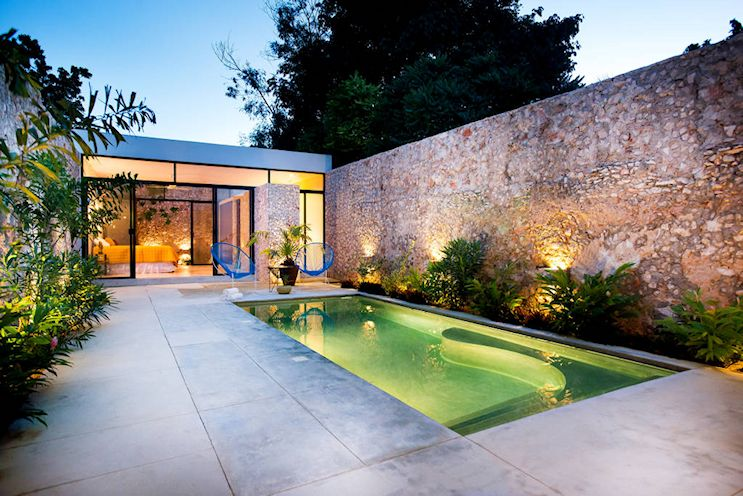 Diseño de exteriores: patios modernos con pileta 10