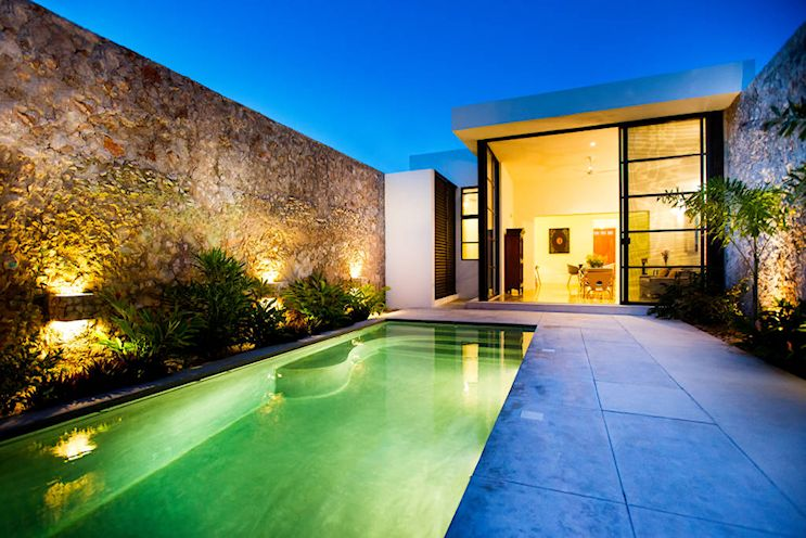 Diseño de exteriores: patios modernos con pileta 11