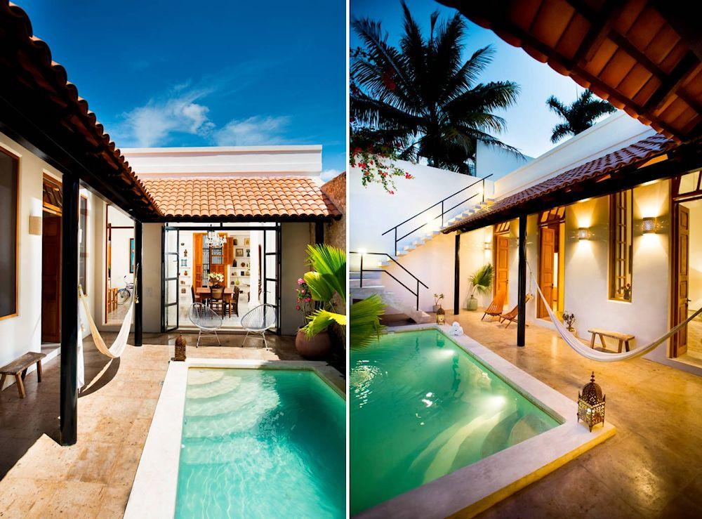 Dise o de exteriores 2 patios modernos con pileta for Disenos de quinchos con piscinas