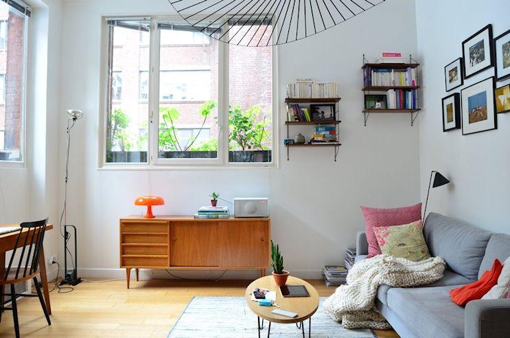 Deco nórdica y vintage en un departamento pequeño de 42 metros²
