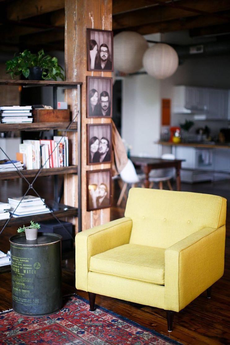 Loft de estilo industrial y vintage con ideas para dividir ambientes 3