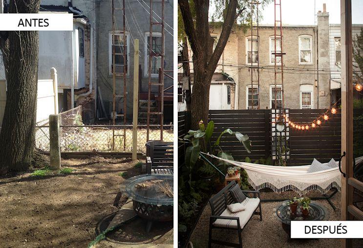 Diseño de exteriores: el antes y después de un patio pequeño