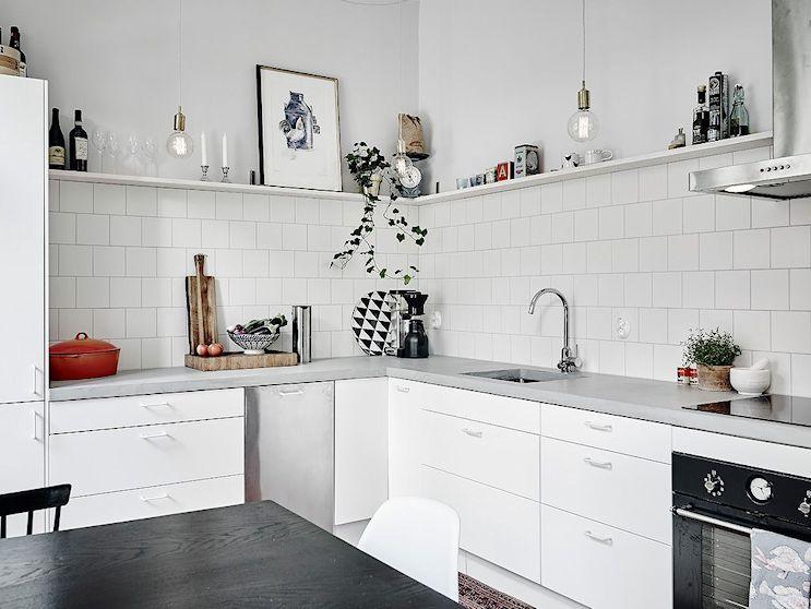 Cocinas con mesadas de microcemento alisado 2