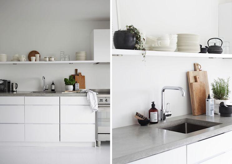 Cocinas con mesadas de microcemento alisado 3