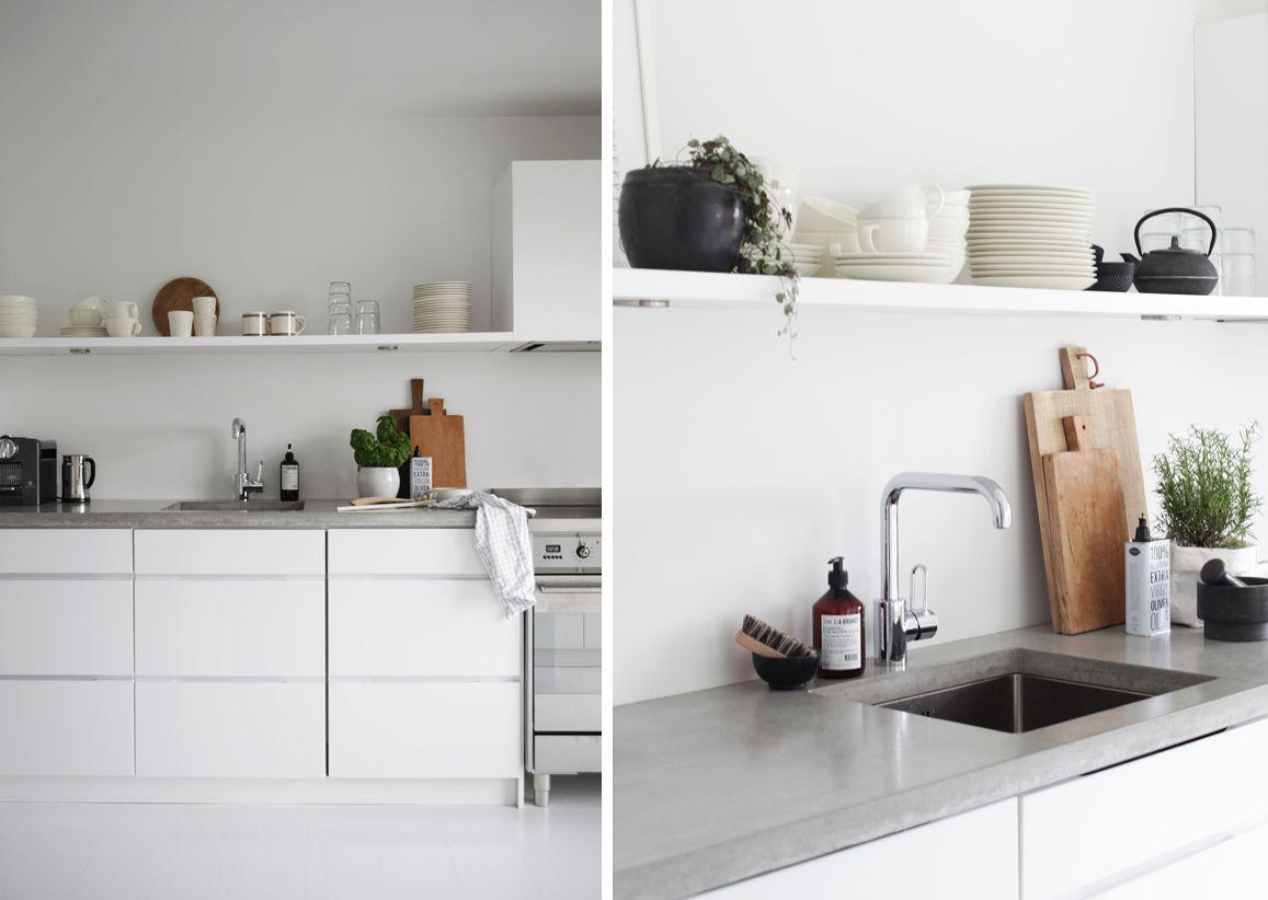 Cocinas con mesadas de microcemento alisado | Estilos Deco