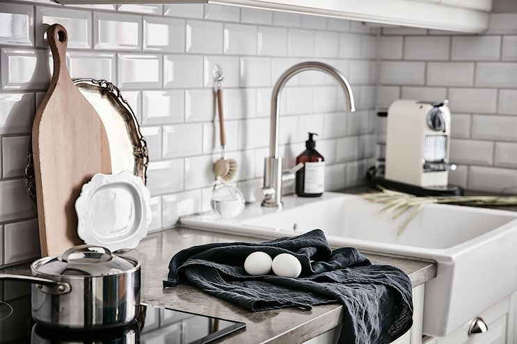 Cocinas con mesadas de microcemento alisado 6