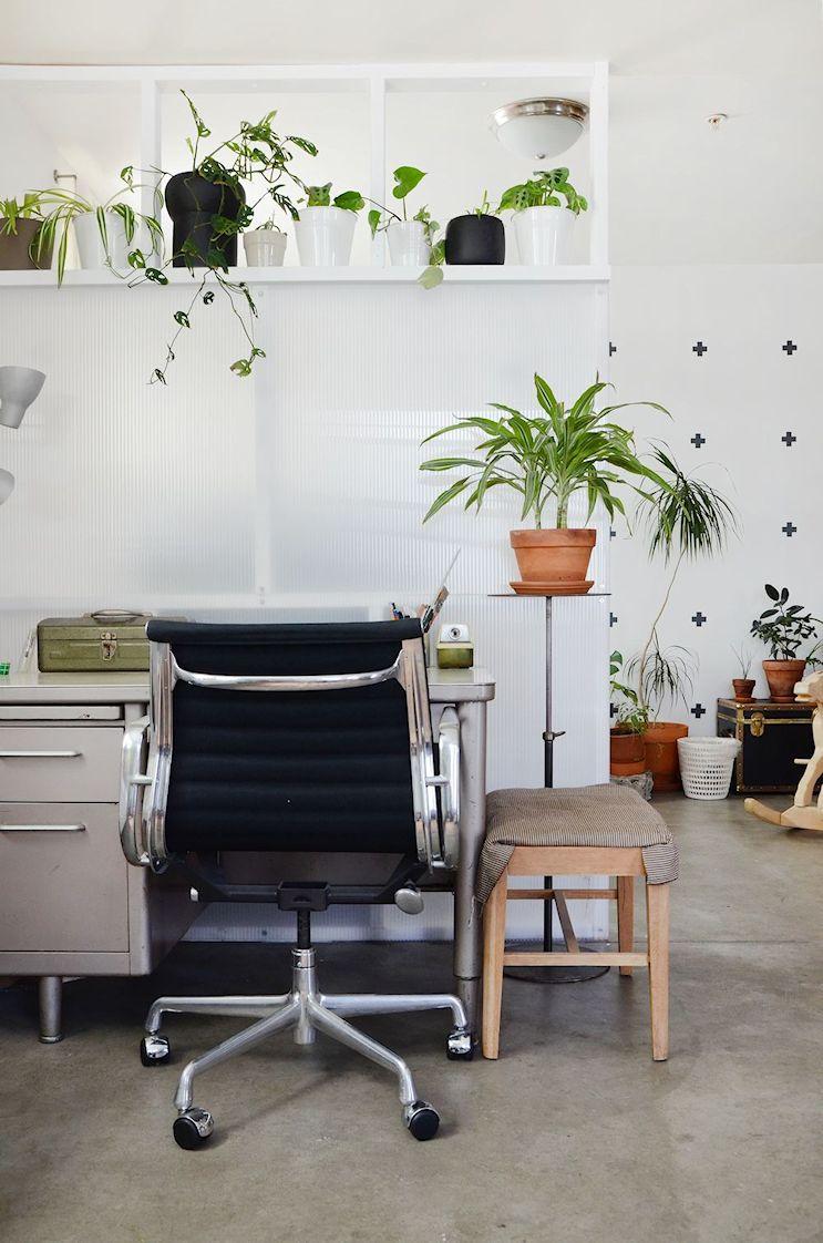 Sector del escritorio del monoambiente
