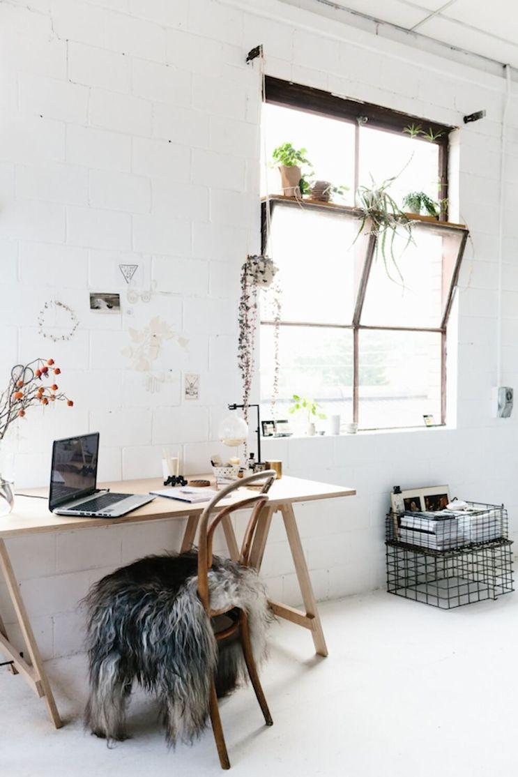 Espacios de trabajo en casa armados con caballetes 5