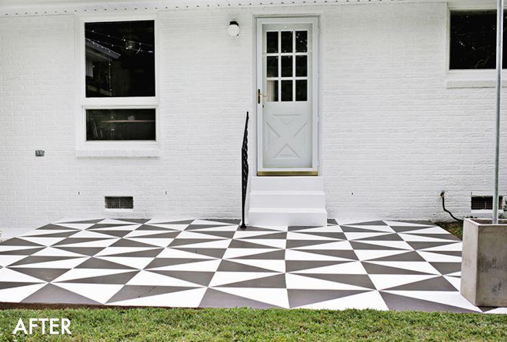 Renovar los pisos de un patio con pintura 13