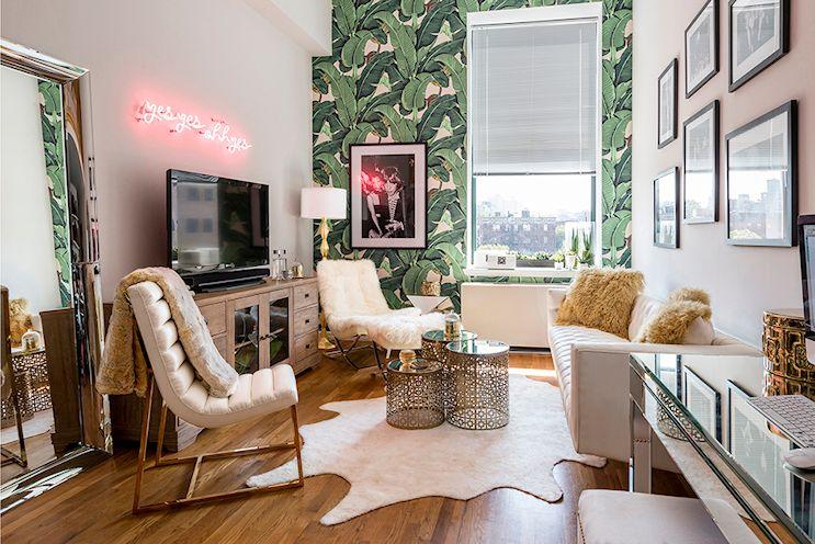 Cómo decorar livings pequeños: color en las paredes