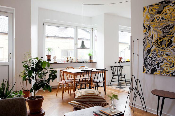 Departamento de 2 ambientes en estilo nórdico y vintage 2