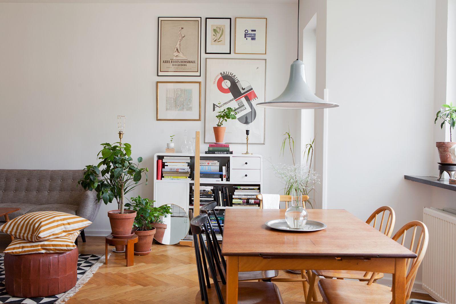 Departamento de 2 ambientes en estilo n rdico y vintage for Departamentos decorados estilo vintage