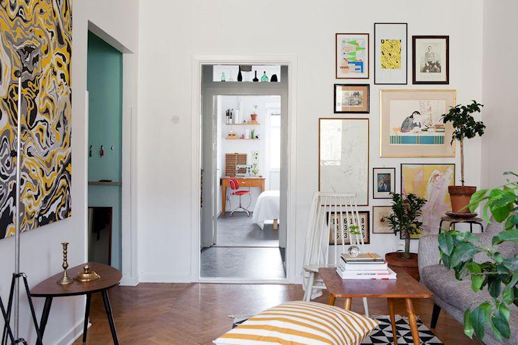 Departamento de 2 ambientes en estilo nórdico y vintage 4