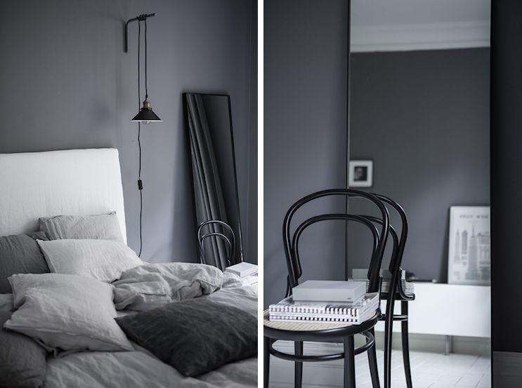 Interiores nórdicos en gris en un departamento de 2 ambientes 10