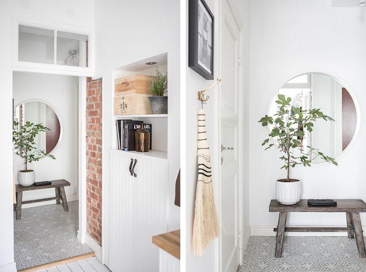 Interiores nórdicos en gris en un departamento de 2 ambientes 11