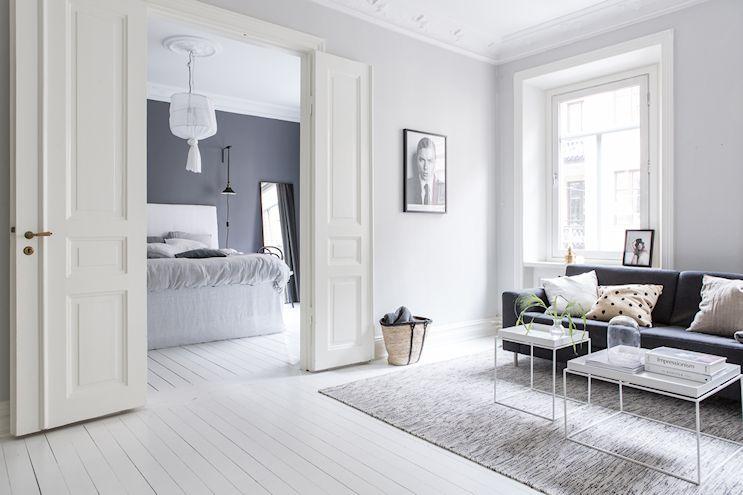 Interiores nórdicos en gris en un departamento de 2 ambientes 1