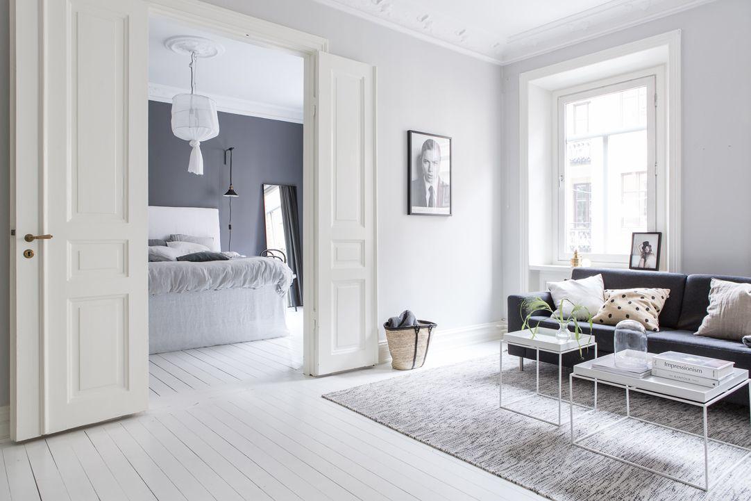 Interiores n rdicos en gris en un departamento de 2 ambientes for Decoracion de ambientes interiores