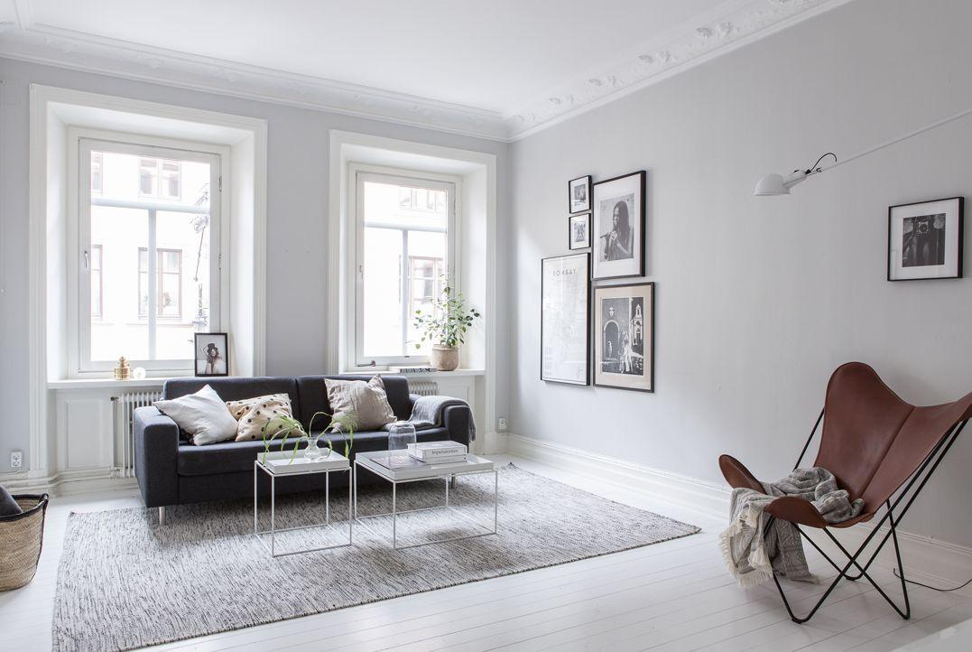 Interiores n rdicos en gris en un departamento de 2 ambientes for Colores para departamentos