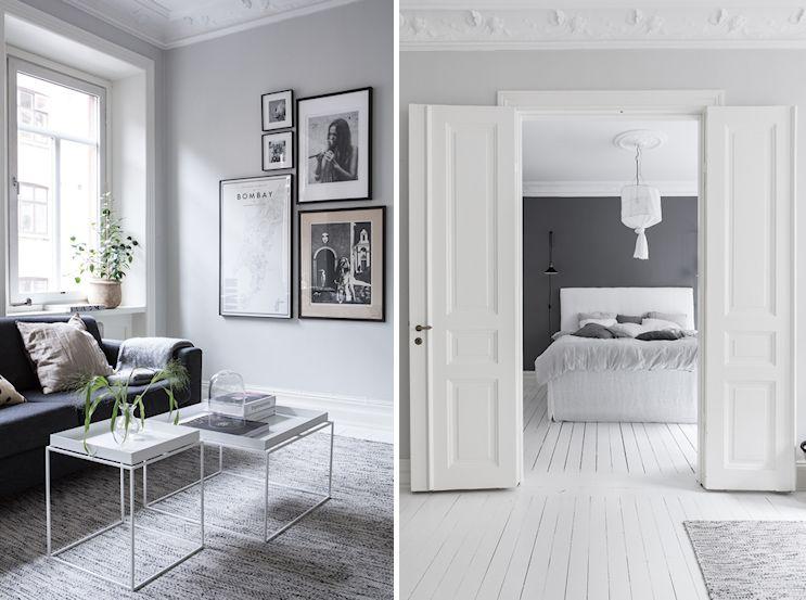 Interiores nórdicos en gris en un departamento de 2 ambientes 5