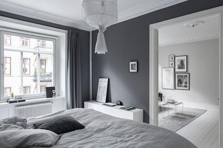 Interiores nórdicos en gris en un departamento de 2 ambientes 7