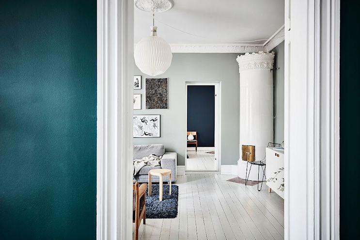 Pintar las paredes de un departamento de colores diferentes