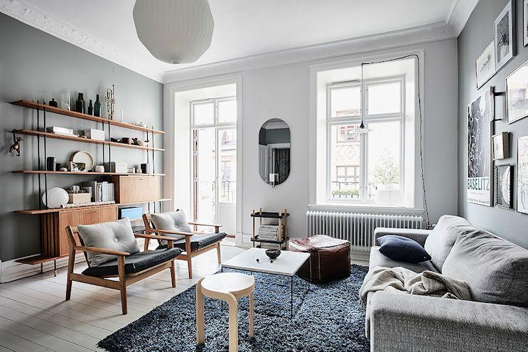 Decoración de livings: pintar las paredes de gris 2