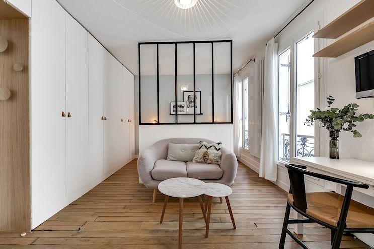 Monoambientes pequeños: 2 formas de separar espacios 1