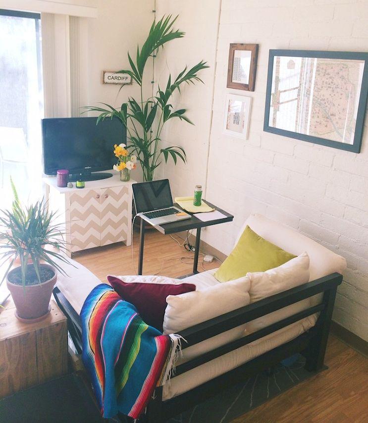 Decoración de monoambientes con muebles económicos