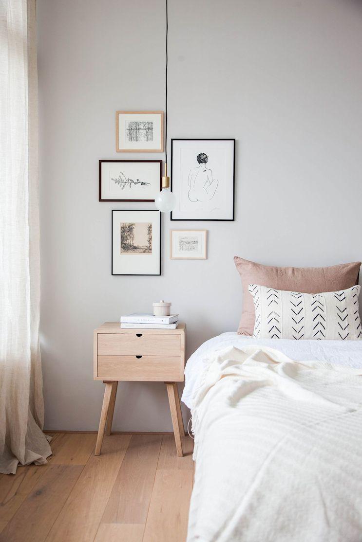 Dormitorio pequeño minimalista 2