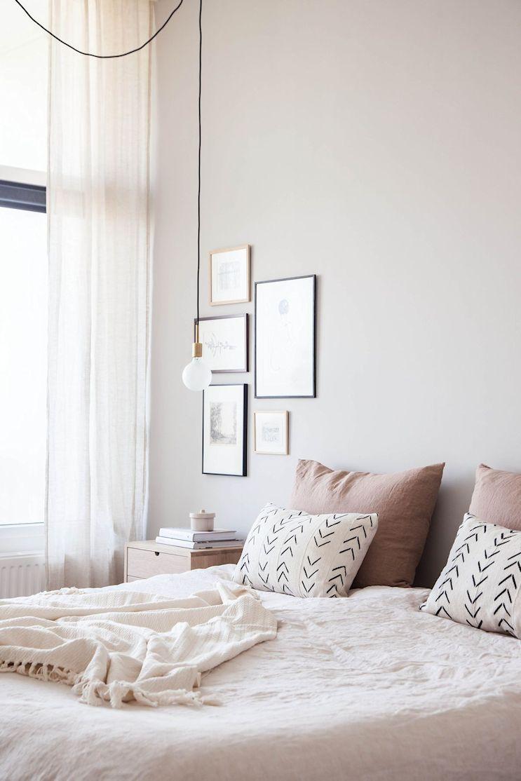 Dormitorio pequeño minimalista 3