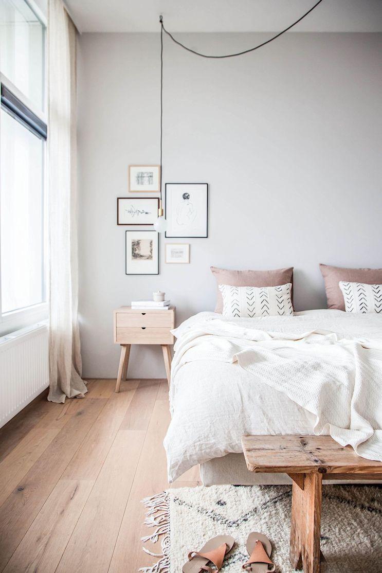 Dormitorio pequeño minimalista 5
