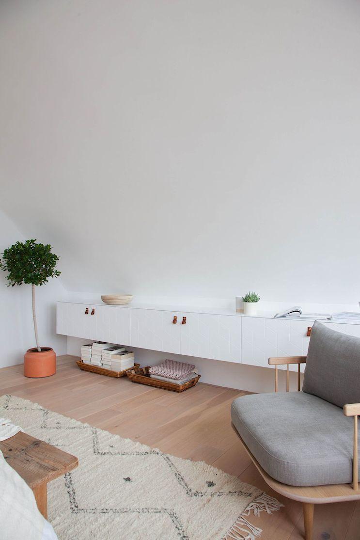 Dormitorio pequeño minimalista 6