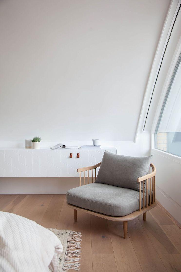 Dormitorio pequeño minimalista 7