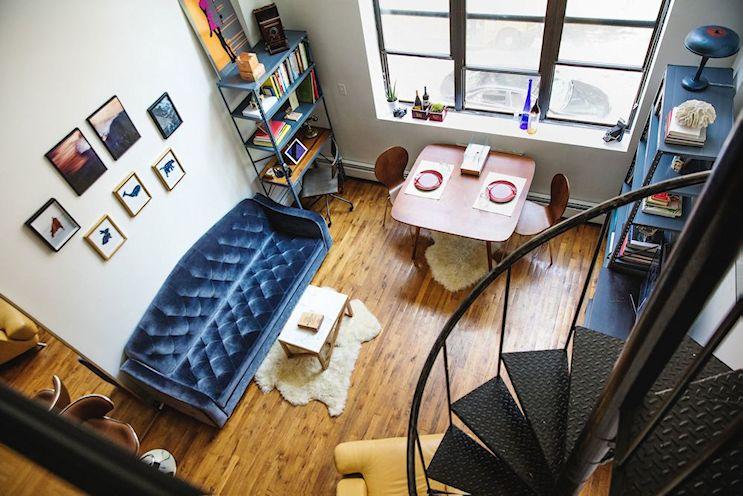 Ecléctico y moderno: departamento pequeños de 39 metros cuadrados con entrepiso 11
